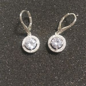 Rhinestone earrings for pierced ears
